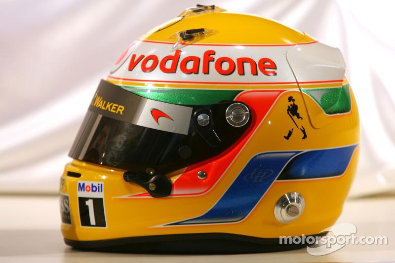 Casque de Lewis Hamilton, McLaren Mercedes