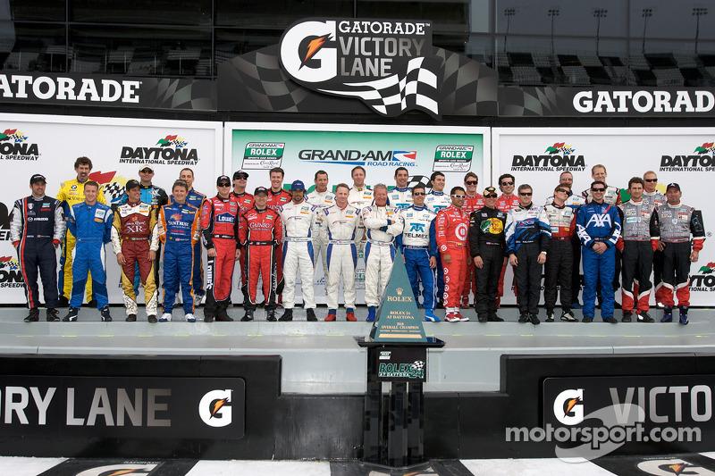 Groepsfoto met de kampioenen