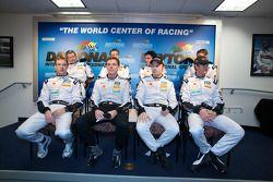 NPN Racing persconferentie: Christophe Bouchut, Sébastien Bourdais, Emmanuel Collard, Sascha Maassen
