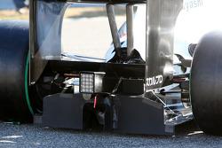 Detalle del nuevo BMW Sauber C29, el difusor trasero cubierto