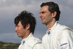 Kamui Kobayashi, BMW Sauber F1 Team and Pedro de la Rosa, BMW Sauber F1 Team