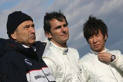 Peter Sauber, Director de equipo, Pedro de la Rosa, Equipo BMW Sauber F1 and Kamui Kobayashi, Equpo
