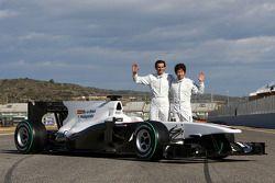 Pedro de la Rosa, Sauber F1 Team; Kamui Kobayashi, Sauber F1 Team
