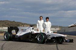 Pedro de la Rosa, Equipo BMW Sauber F1 y Kamui Kobayashi, Equipo BMW Sauber F1 con el C29