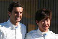 Pedro de la Rosa, Equipo BMW Sauber F1 y Kamui Kobayashi, Equipo BMW Sauber F1
