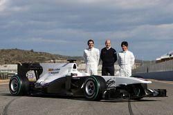 Pedro de la Rosa, Teamchef Peter Sauber, Kamui Kobayashi