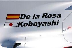 El nuevo BMW Sauber C29, Pedro de la Rosa, Equipo BMW Sauber F1 y Kamui Kobayashi, Equipo BMW Sauber