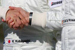 Kamui Kobayashi, Equipo BMW Sauber F1 y Pedro de la Rosa, Equipo BMW Sauber F1