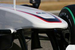 El nuevo BMW Sauber C2, detalle del alerón delantero