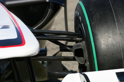 The new BMW Sauber C29, suspension detail