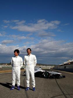 Kamui Kobayashi, Equipo BMW Sauber F1, Pedro de la Rosa, Equipo BMW Sauber F1