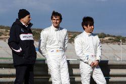 Peter Sauber, BMW Sauber F1 Team, Directeur d'écurie, Pedro de la Rosa, BMW Sauber F1 Team, Kamui Kobayashi, BMW Sauber F1 Team