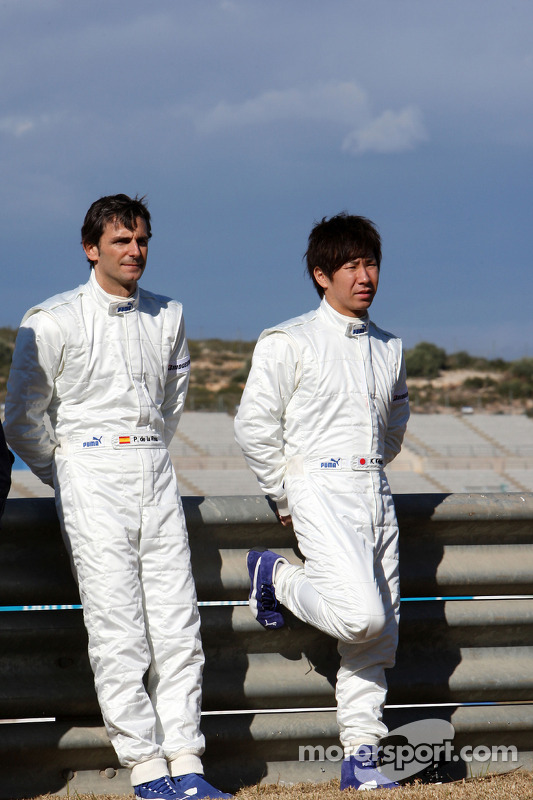 Pedro de la Rosa, BMW Sauber F1 Team, Kamui Kobayashi, BMW Sauber F1 Team