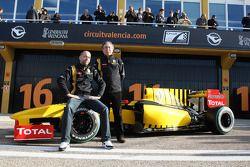 Gerard Lopez und Jean-Francois Caubet, Renault F1 Team