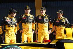Jerome D'Ambrosio, Robert Kubica, Vitaly Petrov, Ho-Pin Tung