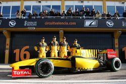 Jerome D'Ambrosio, piloto de pruebas, Equipo Renault F1, Robert Kubica, Equipo Renault F1, Vitaly Pe