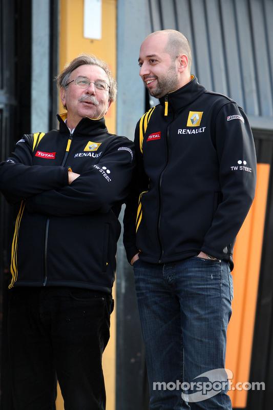 Jean-Francois Caubet, Renalt-Teamgeschäftsführer; Gerard Lopez, Renault-Teambesitzer