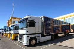 Renault F1 Team trucks