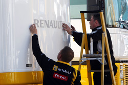 Renault put stickers, there motorhome