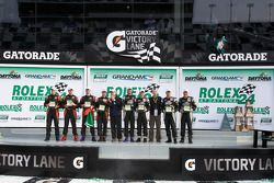 Victory lane: DP and overall winners Joao Barbosa, Terry Borcheller, Ryan Dalziel and Mike Rockenfel
