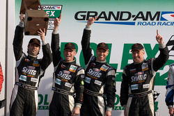 GT podium: class winners Jonathan Bomarito, Nick Ham, David Haskell, Sylvain Tremblay
