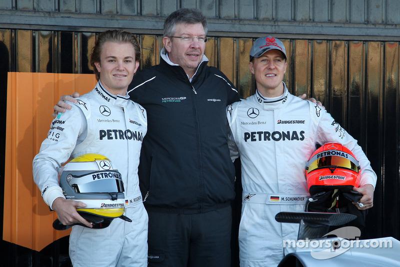 Ніко Росберг, Росс Браун і Міхаель Шумахер, Mercedes GP