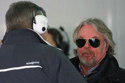 Ross Brawn Team Principal, Mercedes GP and Keke Rosberg, father of Nico Rosberg, Mercedes GP