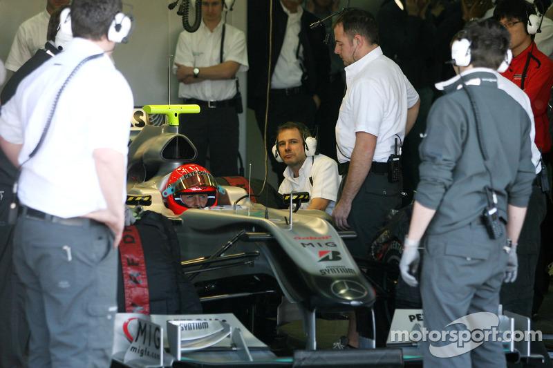 Michael Schumacher im Mercedes