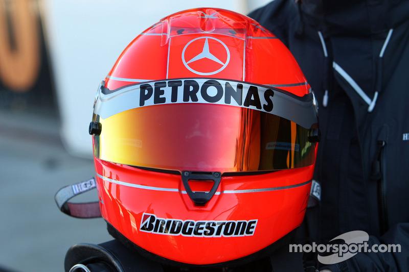 El casco de Michael Schumacher, Mercedes GP
