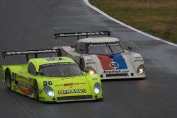 #90 Spirit of Daytona Racing Porsche Coyote: Antonio Garcia, Paul Menard, Buddy Rice, #59 Brumos Rac