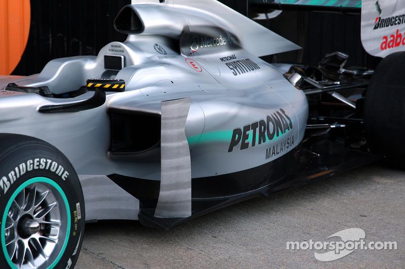 Mercedes GP, W01, detalle