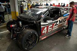 Vision d'un fan après l'accident du #46 Autohaus Motosports