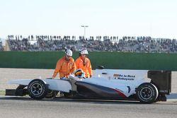 Pedro de la Rosa, BMW Sauber F1 Team, C29, stopt op circuit