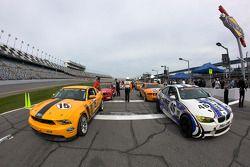 #15 Multimatic Motorsports Mustang Boss 302R: Joe Foster, Scott Maxwell, #46 Fall-Line Motorsports B