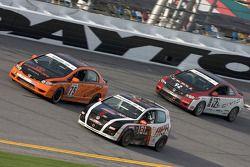 #75 Compass360 Racing Honda Civic SI: Ryan Eversley, Zach Lutz, #181 APR Motorsport Volkswagen GTI: