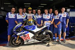 Valentino Rossi with the new Yamaha YZR-M1