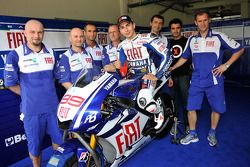 Jorge Lorenzo with the new Yamaha YZR-M1