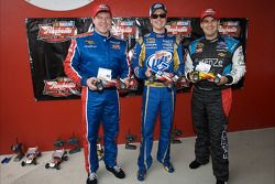 Raybestos Rookie of the Year race met telegeleide wagentjes: Terry Cook, Kurt Busch en Kevin Conway