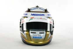 La casque d'Adrian Sutil, Force India