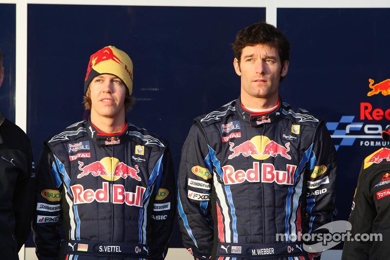 Sebastian Vettel, Red Bull Racing et Mark Webber, Red Bull Racing
