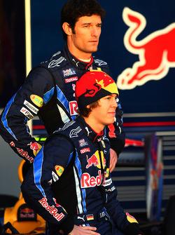 Sebastian Vettel, Red Bull Racing and Mark Webber, Red Bull Racing