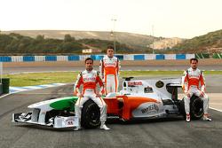 Vitantonio Liuzzi, Force India F1 Team avec Paul di Resta, Test Driver, Force India F1 Team et Adria