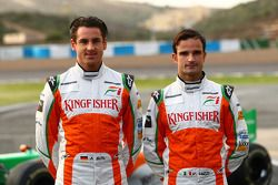 Adrian Sutil, Force India F1 Team et Vitantonio Liuzzi, Force India F1 Team