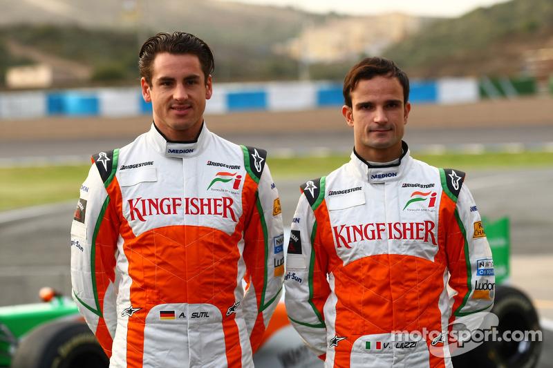 Adrian Sutil, Force India F1 Team et Vitantonio Liuzzi, Force India F1 Team