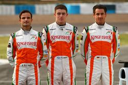 Vitantonio Liuzzi, Force India F1 Team; Paul di Resta, Force India F1 Team; Adrian Sutil, Force Indi