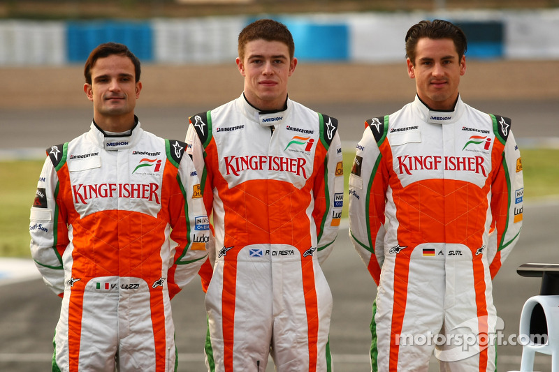 Vitantonio Liuzzi, Force India F1 Team; Paul di Resta, Force India F1 Team; Adrian Sutil, Force India F1 Team