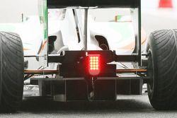 Vitantonio Liuzzi, Force India F1 Team, VJM-03 diffuser