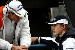 Адриан Сутиль, Force India F1 Team, и Нико Хюлькенберг, Williams F1 Team