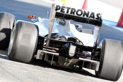 Michael Schumacher, Mercedes GP, W01, rear, detail