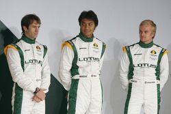 Jarno Trulli, Fairuz Fauzy and Heikki Kovalainen Malaysia Racing Team Principa- Lotus Cosworth Racin